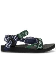ARIZONA LOVE Trekky Sandals - Bandana Khaki & Navy