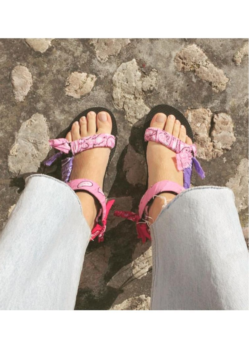 ARIZONA LOVE Trekky Sandals - Bandana Pink Mix main image