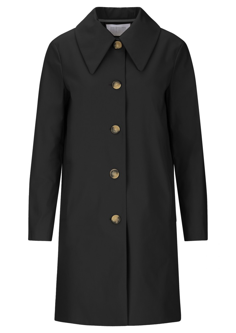 HARRIS WHARF Mac Coat - Black  main image
