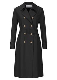 HARRIS WHARF Pleated Trench Coat - Black