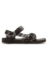 ARIZONA LOVE Trekky Sandals - Bandana Black