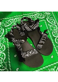 ARIZONA LOVE Trekky Sandals - Bandana Black