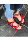 Trekky Sandals - Bandana Red additional image