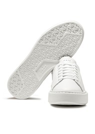 D.A.T.E Sfera Leather Trainers - White & Pink