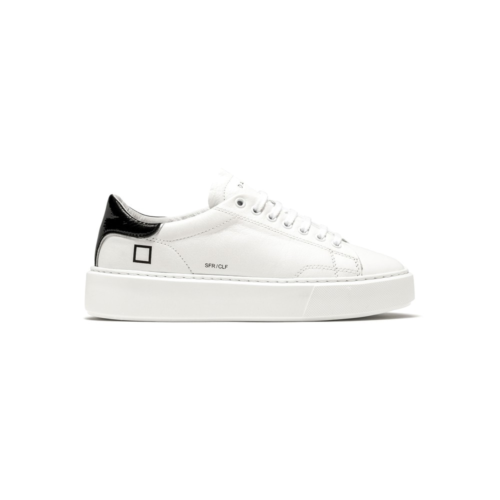 Sfera Leather Trainers - White & Black