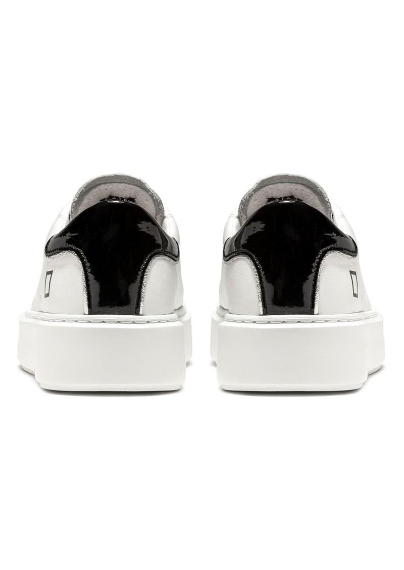 D.A.T.E Sfera Leather Trainers - White & Black main image