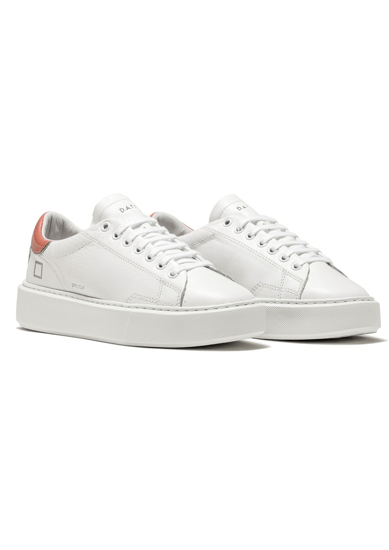 D.A.T.E Sfera Leather Trainers - White & Pink main image