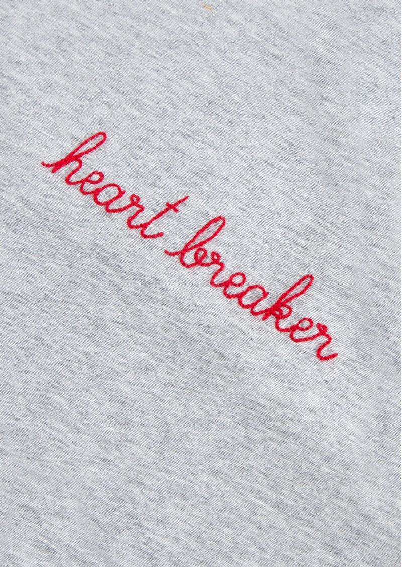 MAISON LABICHE Heart Breaker Cotton Classic Tee - Light Heather Grey main image