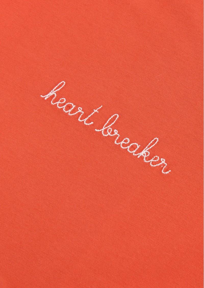 MAISON LABICHE Heart Breaker Cotton Classic Tee - Poppy Red main image