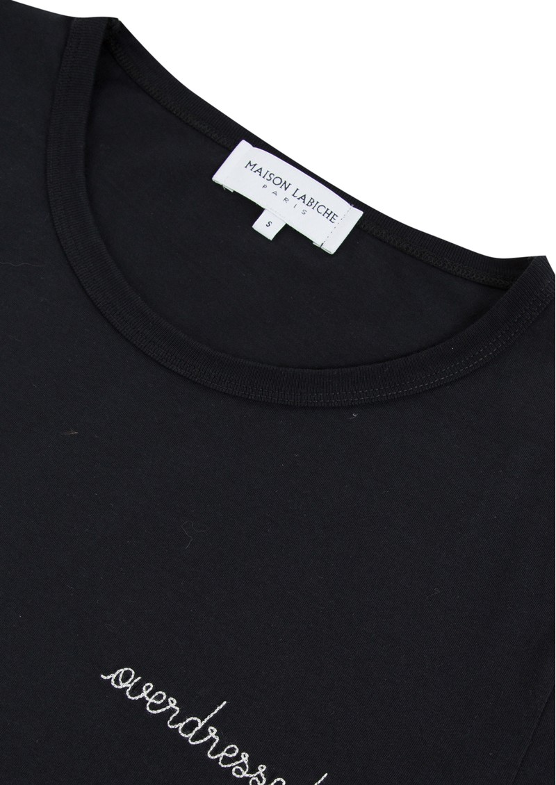 MAISON LABICHE Overdressed Cotton Classic Tee - Black main image