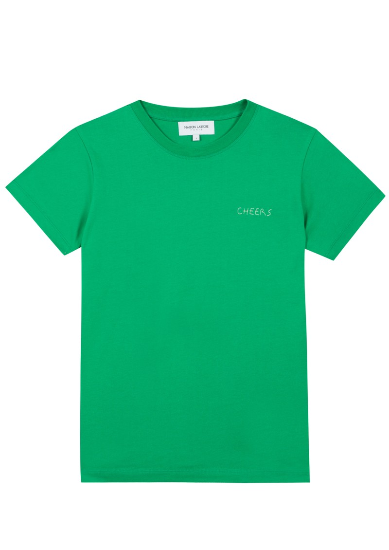 MAISON LABICHE Cheers Crew Cotton Tee - Grass main image