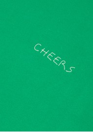 MAISON LABICHE Cheers Crew Cotton Tee - Grass
