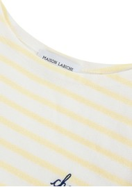 MAISON LABICHE Sailor Cheers Cotton Tee - Off White & Vanilla