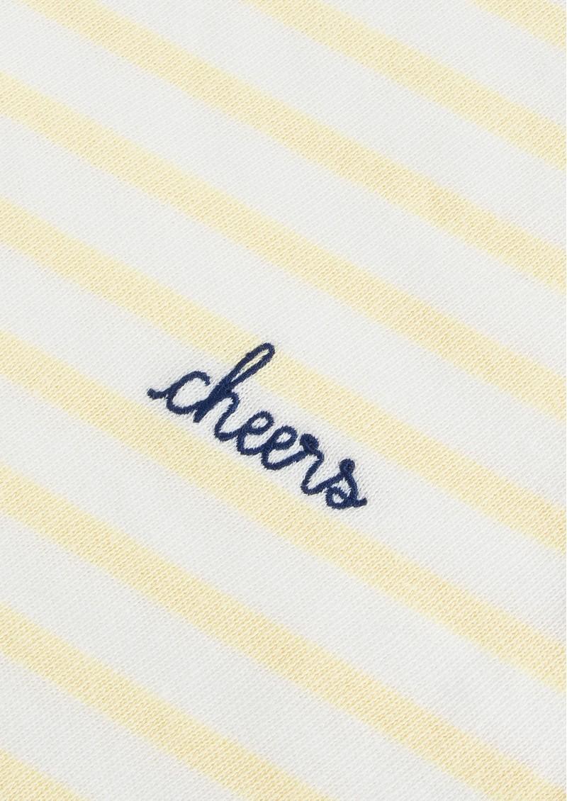 MAISON LABICHE Sailor Cheers Cotton Tee - Off White & Vanilla main image