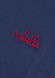 MAISON LABICHE Rebelle Cotton Classic Tee - Navy