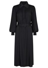 LEVETE ROOM Lora 3 Belted Shirt Dress - Black