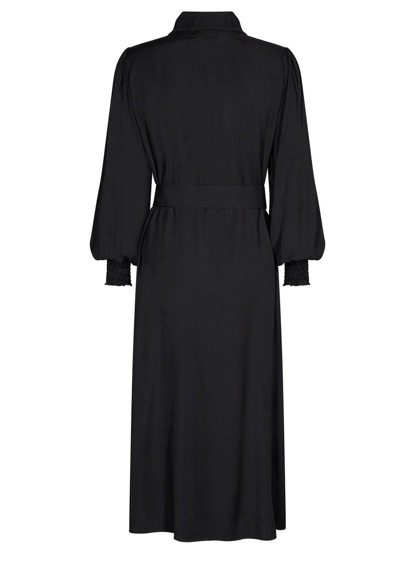 LEVETE ROOM Lora 3 Belted Shirt Dress - Black main image
