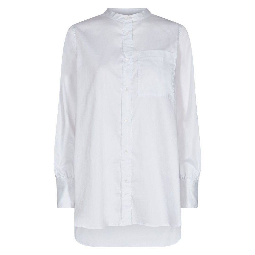 Isla Solid 23 Cotton Shirt - White