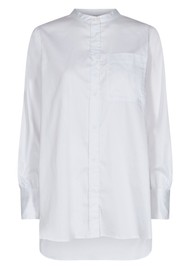 LEVETE ROOM Isla Solid 23 Cotton Shirt - White