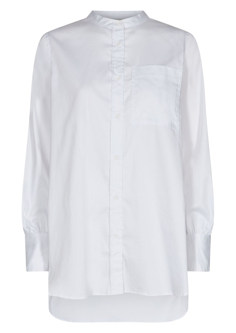 LEVETE ROOM Isla Solid 23 Cotton Shirt - White main image