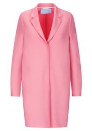 HARRIS WHARF Cocoon Coat - Pink