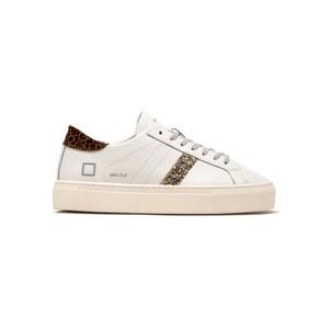 Vertigo Leather Low Top Trainers - White & Leopard
