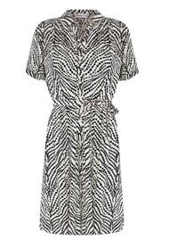 FABIENNE CHAPOT Boyfriend Printed Shirt Dress - Cream & Black