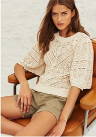 Ba&sh Claire Knitted Jumper - Ecru