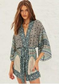 Ba&sh Toan Printed Kimono - Vertdeau