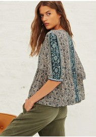 Ba&sh Tobias Printed Top - Vertdeau