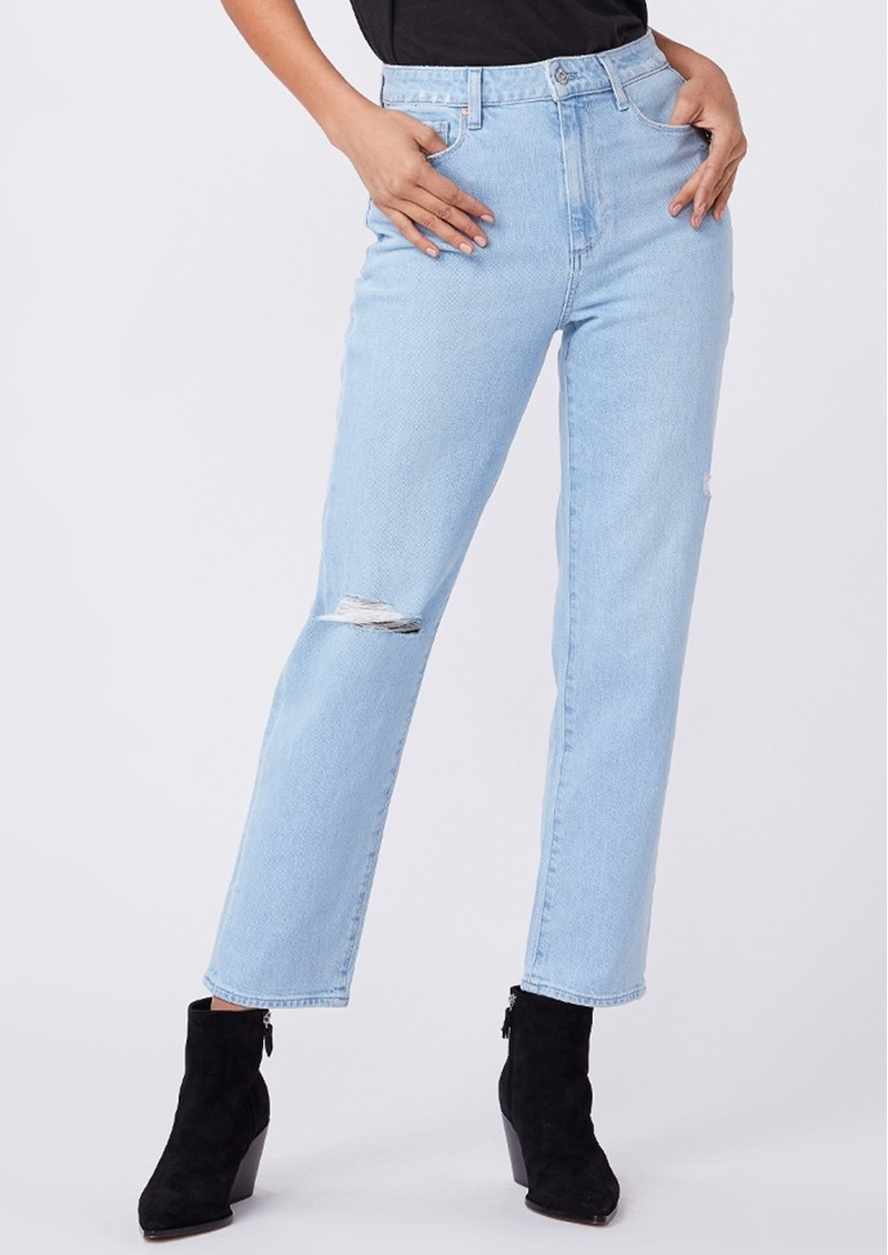 Paige Denim Noella High Rise Relaxed Straight Leg Jeans - Broadway Destructed main image