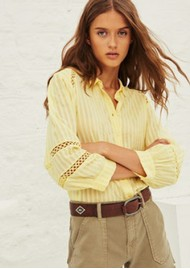 Ba&sh Upsa Cotton Shirt - Jaune