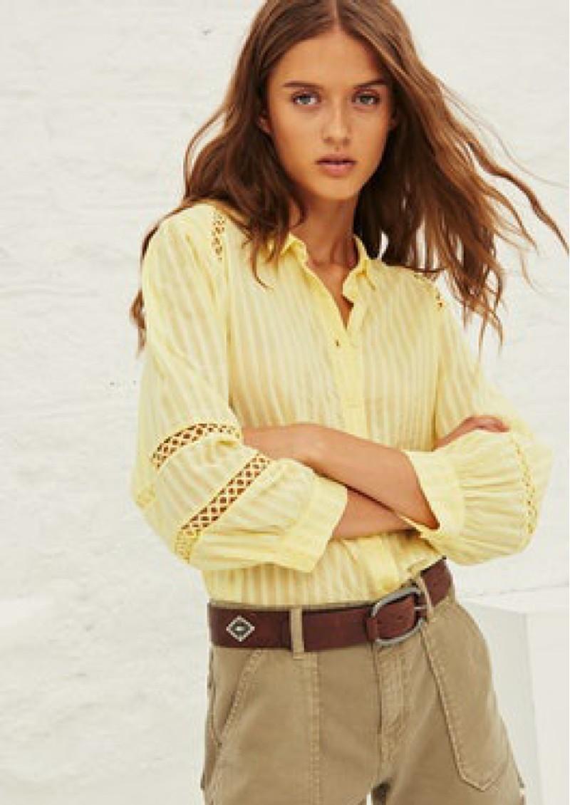Ba&sh Upsa Cotton Shirt - Jaune main image