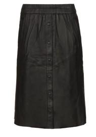 DANTE 6 Reid Leather Skirt - Raven