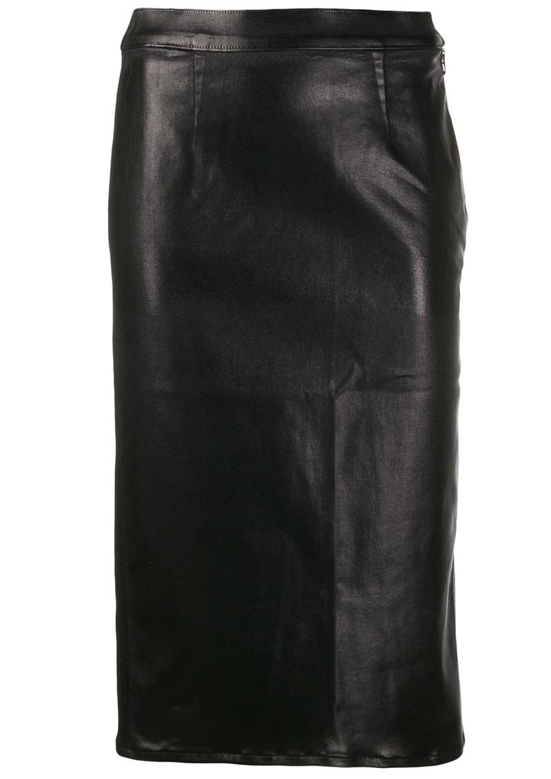 J Brand High Rise Side Zip Pencil Skirt - Galactic Black main image