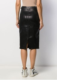 J Brand High Rise Side Zip Pencil Skirt - Galactic Black