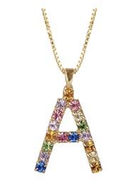 CAROLINE SVEDBOM Initial A Letter Necklace - Gold