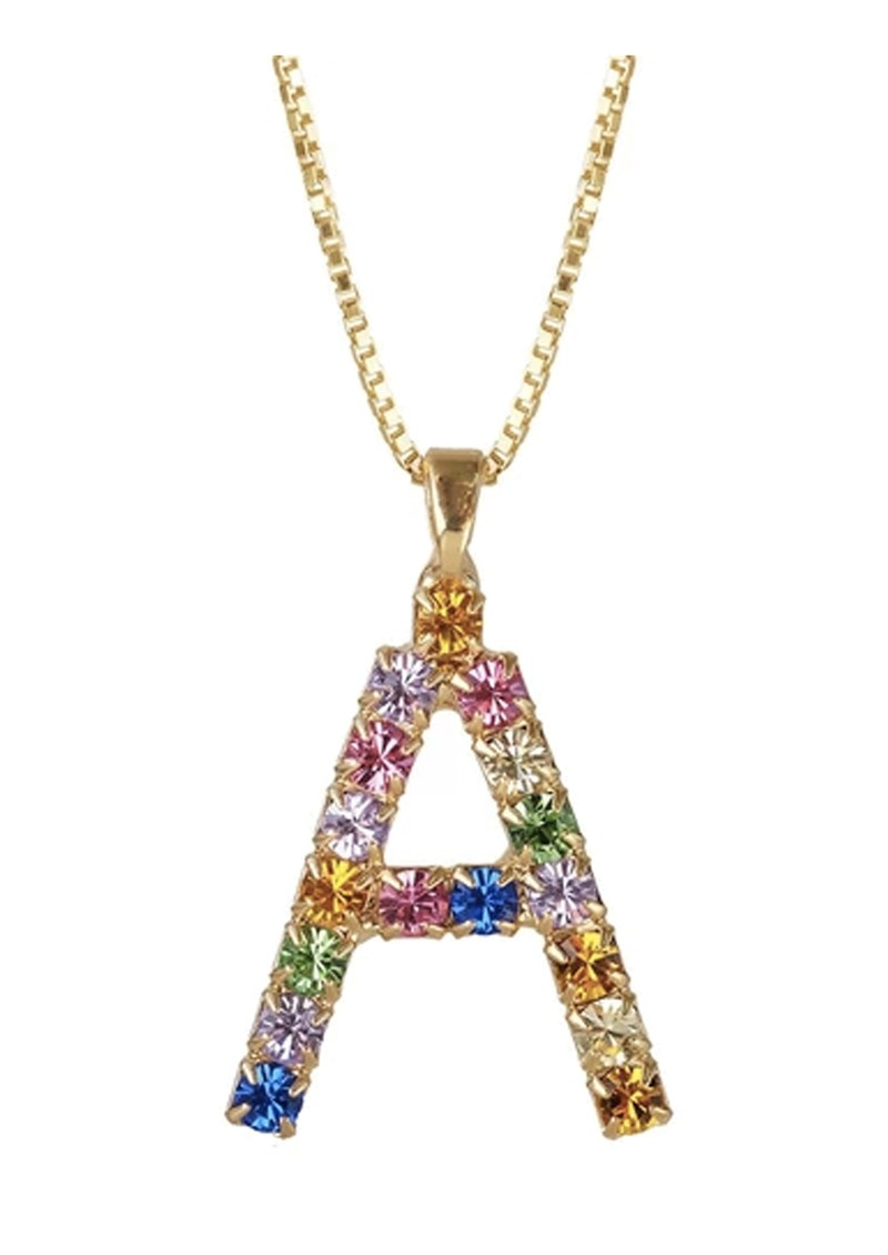 CAROLINE SVEDBOM Initial A Letter Necklace - Gold main image