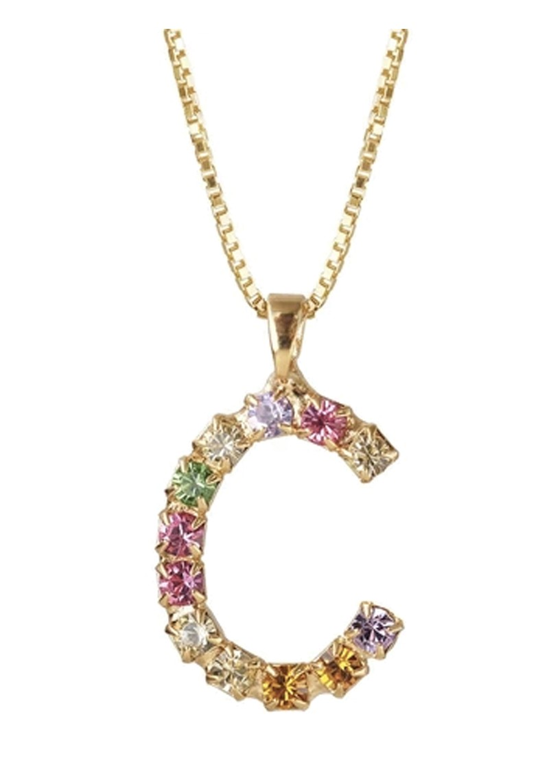 Initial C Letter Necklace - Gold main image
