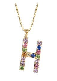 CAROLINE SVEDBOM Initial H Letter Necklace - Gold