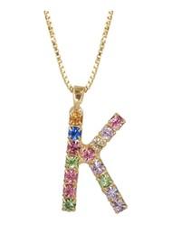 CAROLINE SVEDBOM Initial K Letter Necklace - Gold