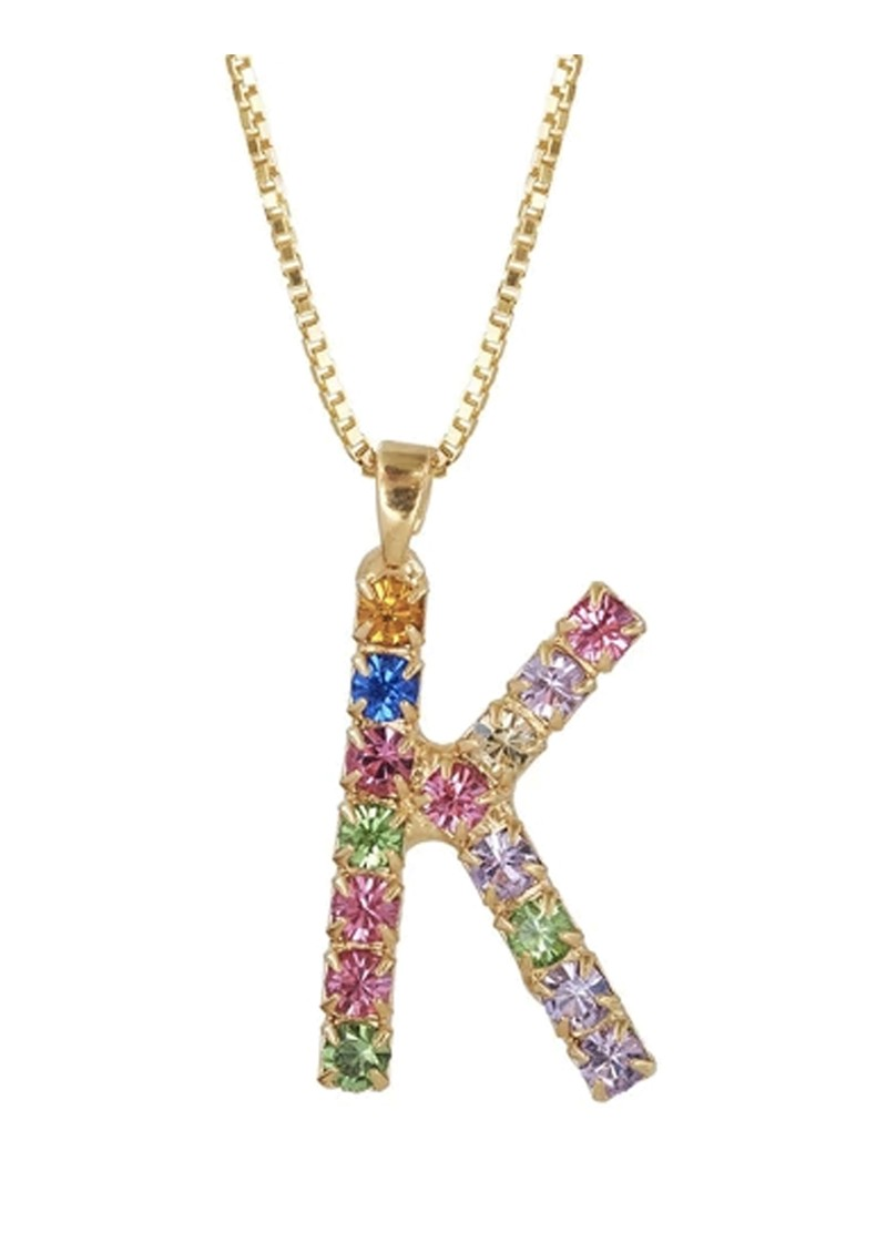 Initial K Letter Necklace - Gold main image