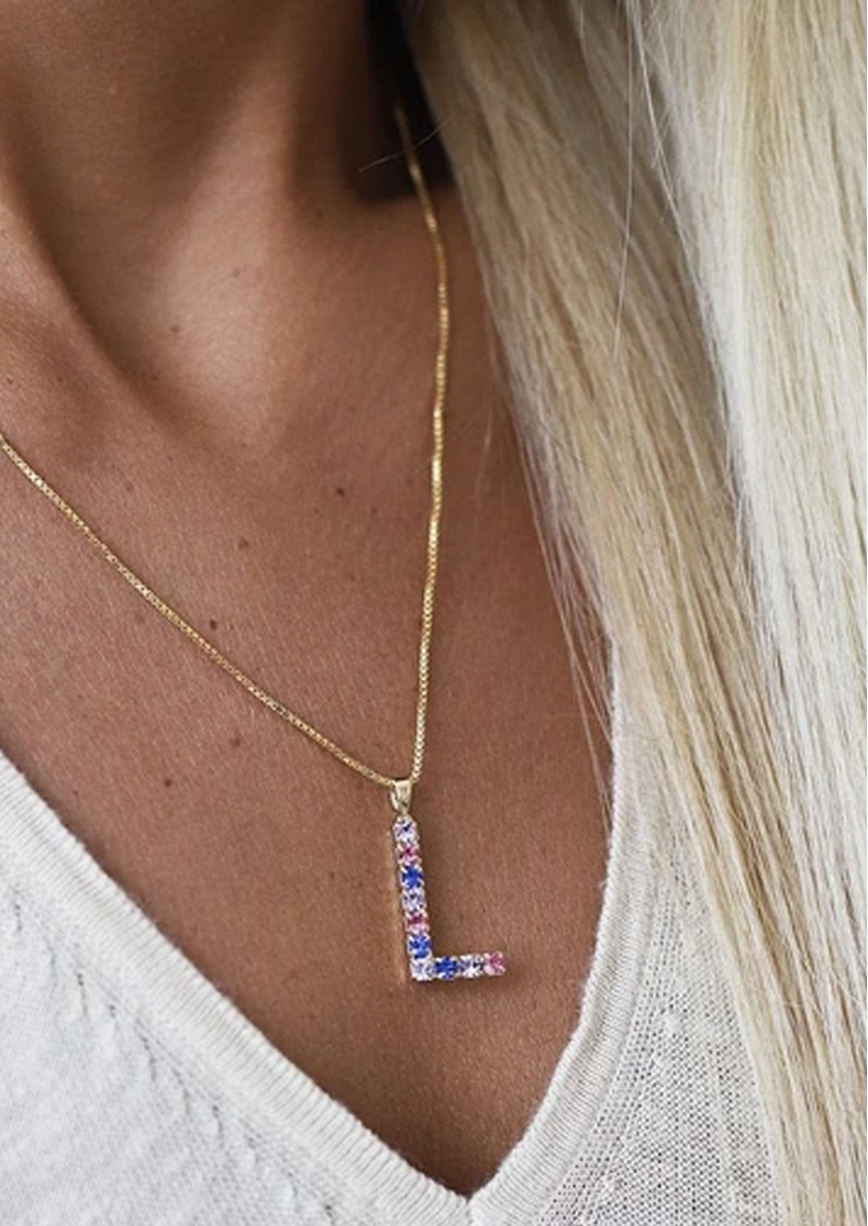 CAROLINE SVEDBOM Initial L Letter Necklace - Gold main image