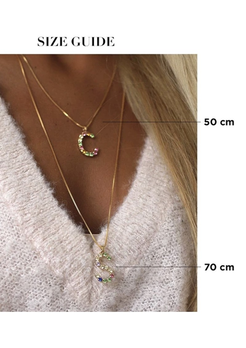 Initial M Letter Necklace - Gold main image