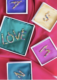 CAROLINE SVEDBOM Initial M Letter Necklace - Gold