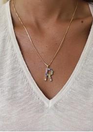CAROLINE SVEDBOM Initial R Letter Necklace - Gold