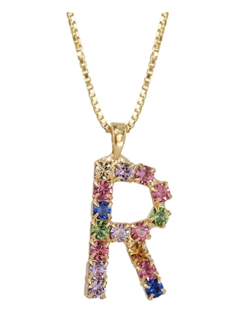 CAROLINE SVEDBOM Initial R Letter Necklace - Gold main image