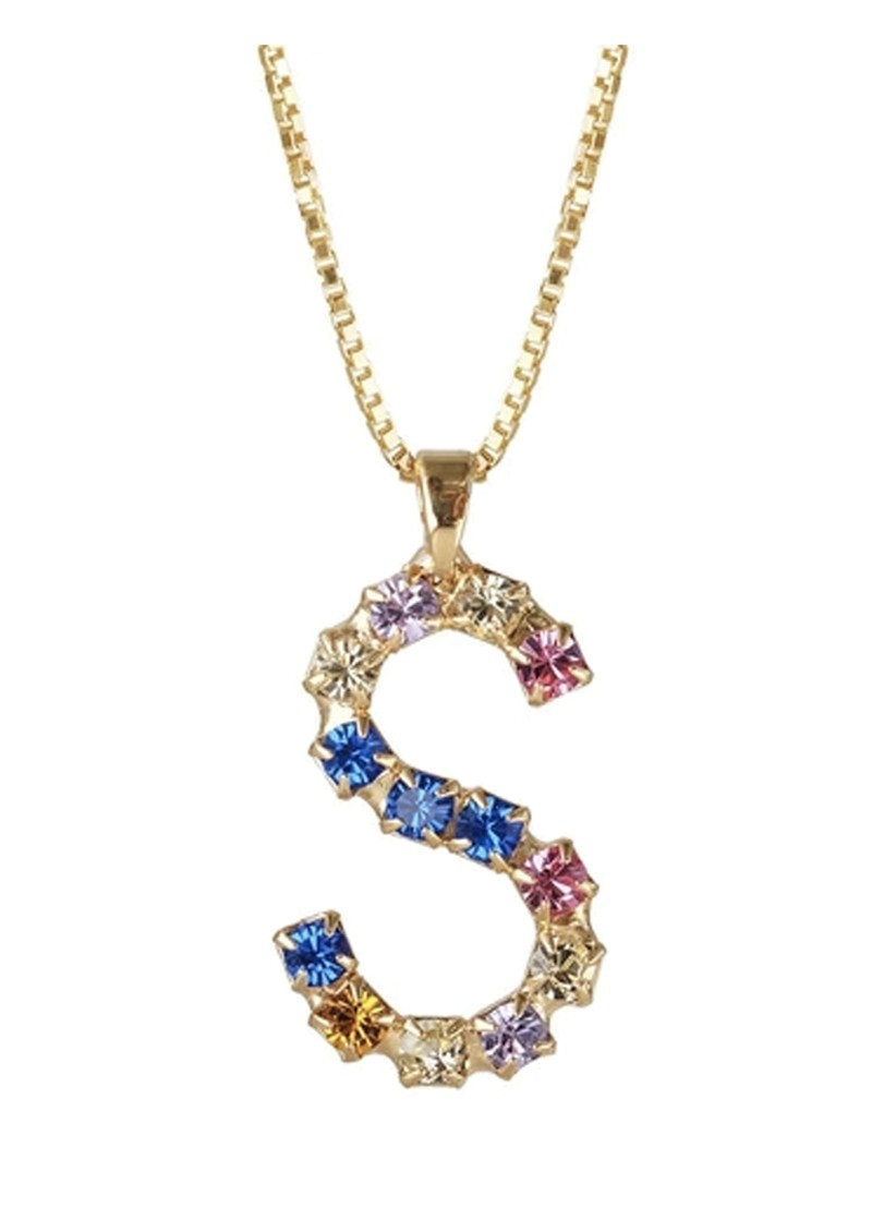 Initial S Letter Necklace - Gold main image