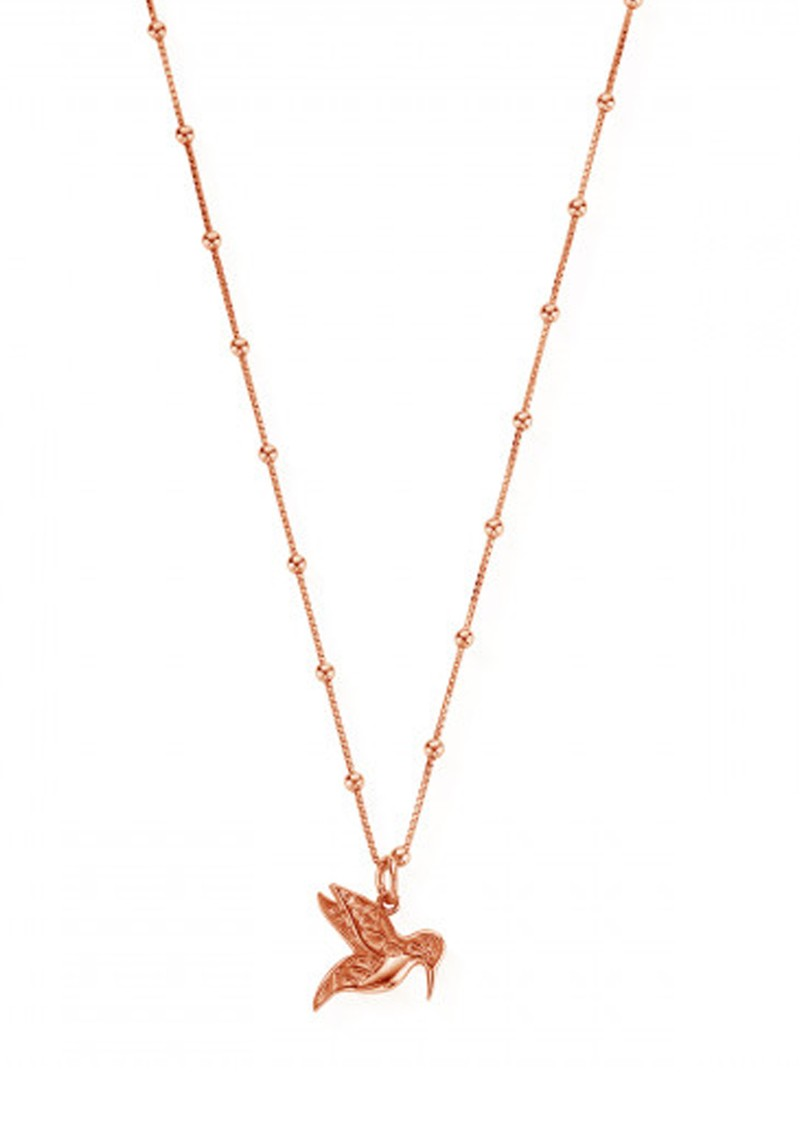 ChloBo Bobble Chain Hummingbird Necklace - Rose Gold main image