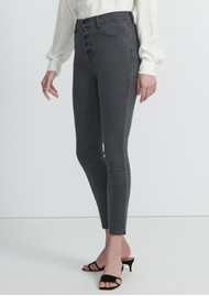 J Brand Lillie High Rise Photo Ready Crop Skinny Jeans - Sleek